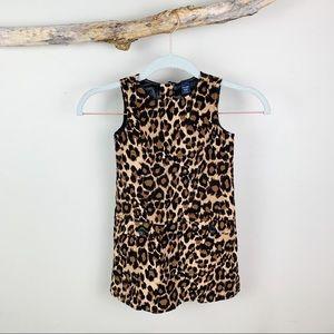 BABYGAP Girl's Leopard Print Velour Dress